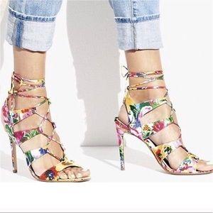 Steve Madden Floral Sandalia Sandals, Heels, NWOT